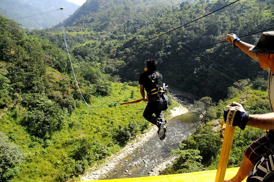 Giant Swing Jump in Rishikesh