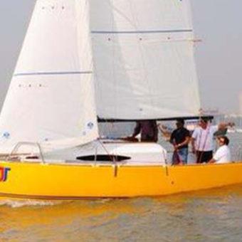 Sailing at Gateway of India, Mumbai, JJ 22 Sailboat