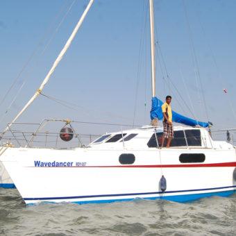 Sailing at Gateway of India, Mumbai (Wave Dancer Catamaran Yacht)