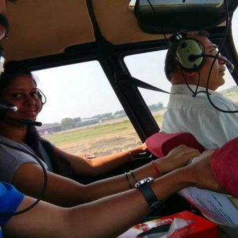 Helicopter Ride in Mumbai (Robinson R44 Helicopter) - Arvind Chaudhari - Review Photo