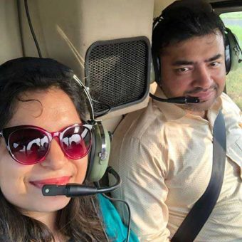 Saumya Pandey - Leisurekart Review - Helicopter Ride in Mumbai (Robinson R44 Helicopter)