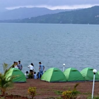 Camping in Pawna With Lake Facing Tents