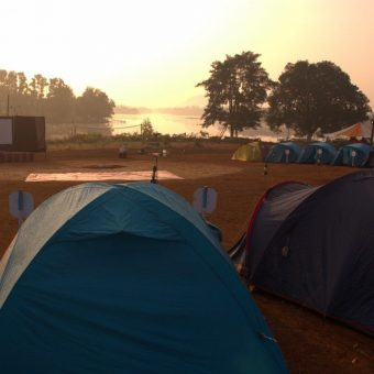 Camping in Alpine Tents at Z-Bac Adventures Kolad