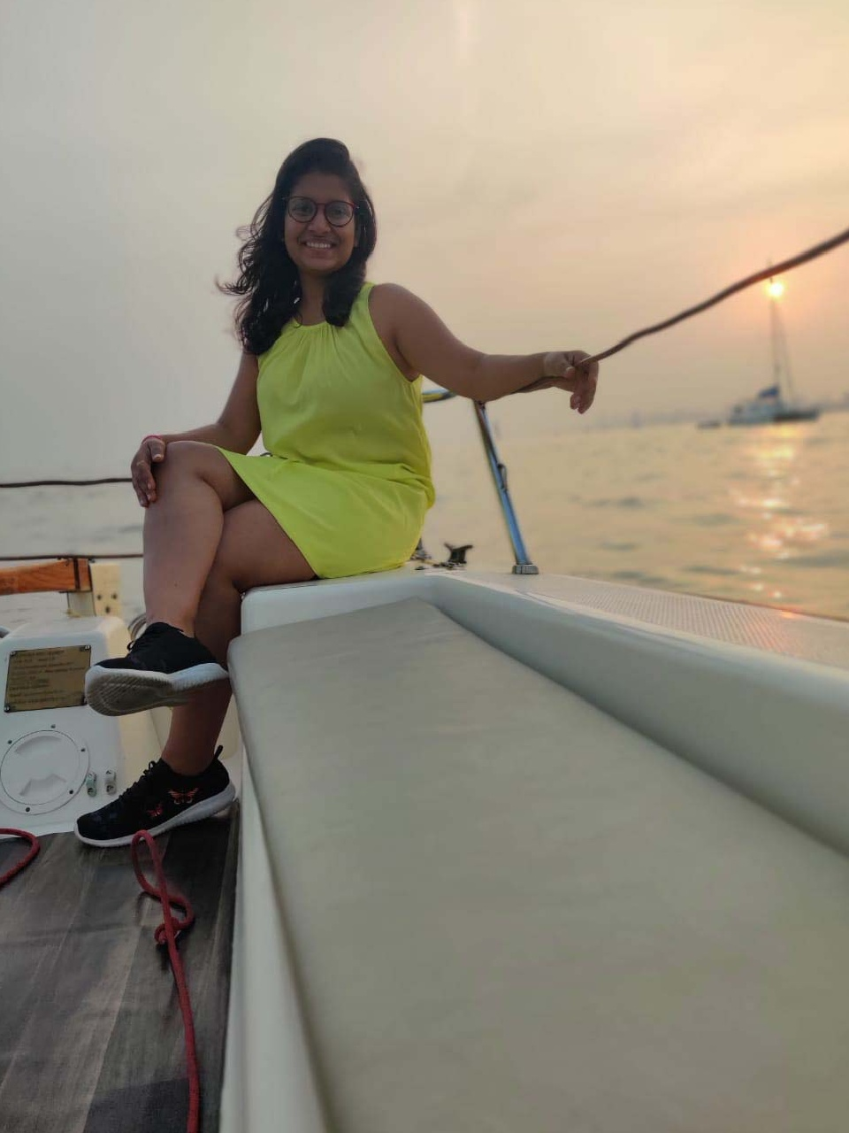 Sunset Sailing on a Yacht at Gateway of India, Mumbai
