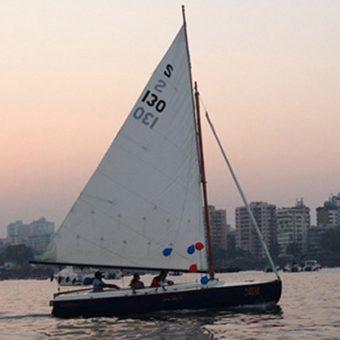 Yacht Sailing in Mumbai at Gateway of India. Seabird Sailboat