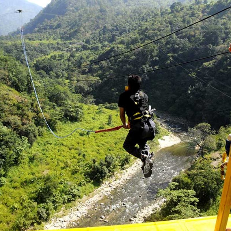 Giant Swing Jump in Rishikesh