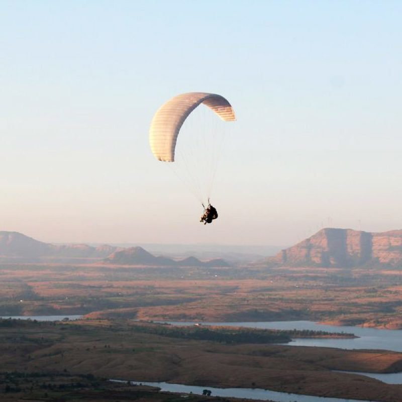 Paragliding at Kamshet, Acro Tandem