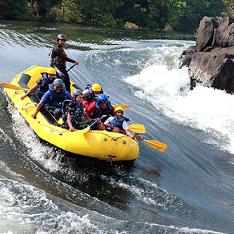 River Rafting + Kayaking + River Crossing + Zip Line + Lunch in Kolad