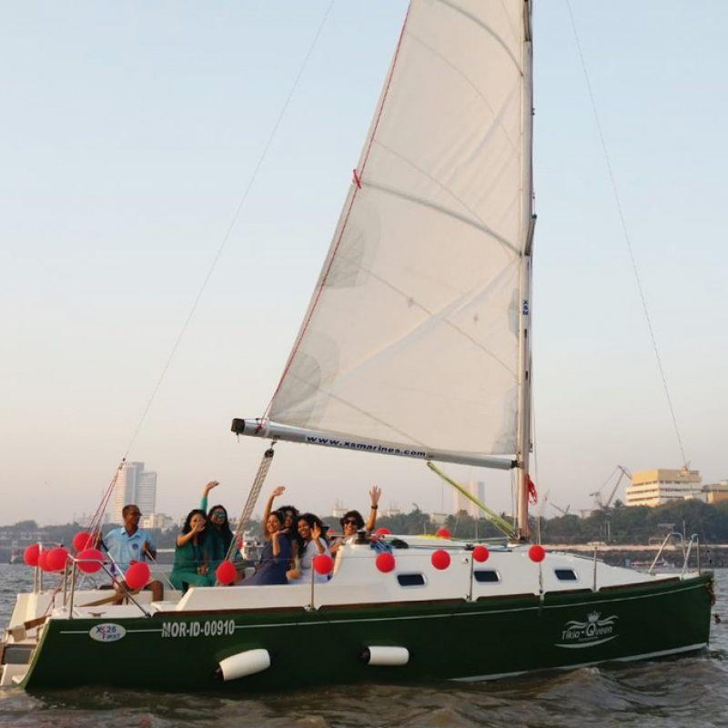 Sailing at Gateway of India, Mumbai (XS 26 Yacht)