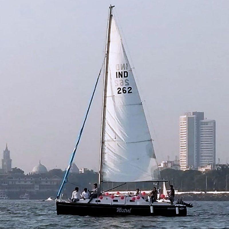 Sailing at Gateway of India, Mumbai (XS 27 Yacht)
